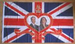 Royal Wedding Large Flag style 1 - 5' x 3'.